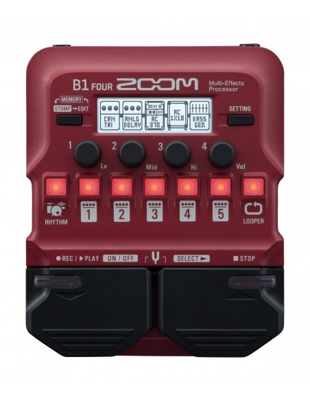Zoom B1X Four Bass Guitar Multi Effects with Expression Pedal