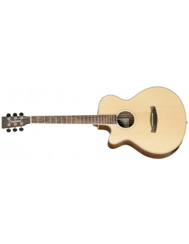 Tanglewood Discovery Super Folk Electro-Acoustic Guitar - Black Walnut - Left Handed
