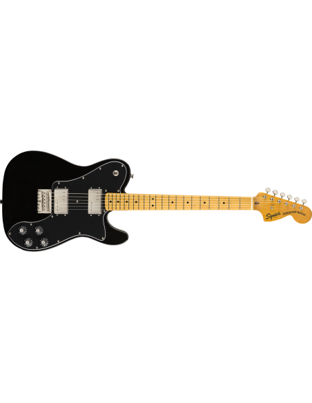 Squier Classic Vibe '70s Telecaster Deluxe Electric Guitar - Black - Maple Fingerboard